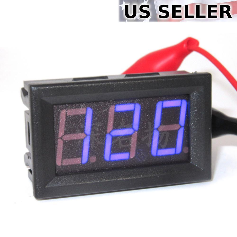 thumbnail 6 - DC 5-120V 2-Wire Voltmeter 3-Digit LED Display Panel Volt Meter Voltage Tester