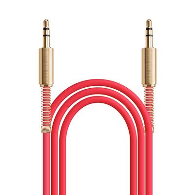 """3ft Aux Cable 3.5mm 1/8"""" Male to Male Stereo Auxiliary Audio Cord  (Red)"""