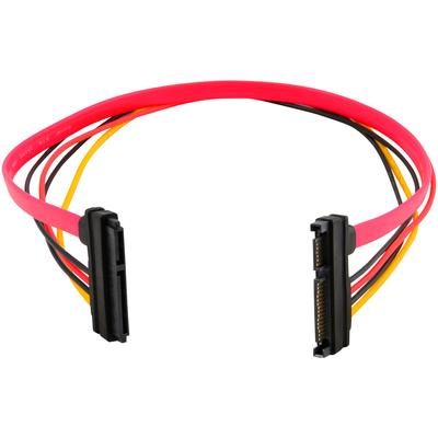 """15+7 Pin SATA HDD Extension Cable Data & Power Male to Female, 19"""" / 50cm"""