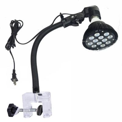 Flexible Aquarium Lamp Light Holder Clamp for Standard US LED & CFL Bulbs 15""